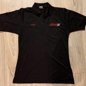 Superior uniforms Black Advance Auto Parts Polo SR